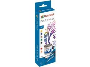 Humbrol sada emailových barev a štětců AA9061 - Matt