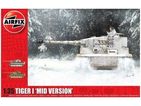Airfix - Pz.Kpfw.VI Tiger I, Mid Version, Classic Kit A1359, 1/35