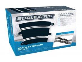 SCALEXTRIC - Rozšíření trati Track Extension Pack 6 - 8 X R3 Curves, SCALEXTRIC C8555