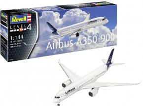 Revell - Airbus A350-900, Lufthansa New Livery, Plastic ModelKit 03881, 1/144