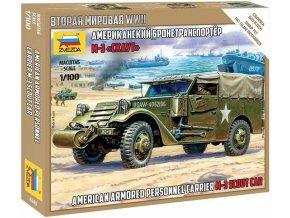 Zvezda - M3 Scout Car, Snap Kit 6245, 1/100