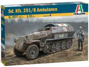 "Italeri - Sd.Kfz. 251/8 ""Hakl"" Ambulance, Model Kit 7077 (1:72)"