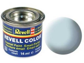 Revell - Barva emailová 14ml - matná světle modrá (light blue mat), 32149