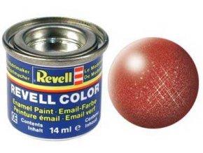 Revell - Barva emailová 14ml - metalická bronzová (bronze metallic), 32195