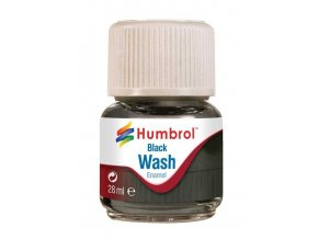 Humbrol - barva emailová 28ml - Wash - Black, AV0201