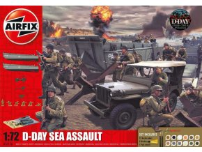 Airfix - diorama vylodění v Normandii, D-Day 75th Anniversary Sea Assault, Gift Set A50156A, 1/72
