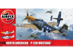 Airfix - North American P-51D Mustang, USAAF, Classic Kit A05138, 1/48