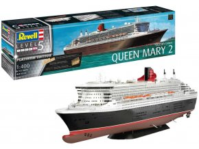 Revell - Queen Mary 2 (Platinum Edition), Plastic ModelKit Limited Edition 05199, 1/400