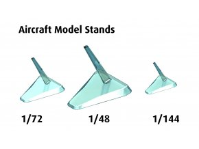 Revell - sada stojánků k letadlům, Revell 03800, 1/48, 1/72 a 1/144