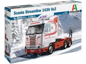 Italeri - SCANIA Streamline 143H 6x2, Model Kit 3944, 1/24