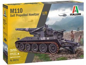 Italeri - samohybná houfnice M110, US Army, Model Kit 6574, 1/35