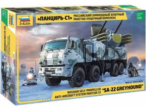 Zvezda - KAMAZ-6560 Pantsir-S1 / SA-22 Greyhound, Model Kit 3698, 1/35