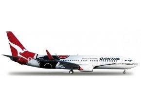 Herpa - Boeing B737-838, dopravce Qantas Airways, Austrálie, 1/200