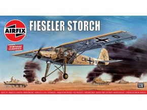 Airfix - Fiesler Fi-156 Storch, Classic Kit VINTAGE A01047V, 1/72