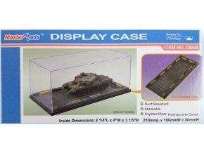 """Trumpeter - průhledná krabička na model s podstavcem """"garáž"""", 21 x 10 x 8 cm"""