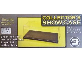 T9 - průhledná krabička na model s podstavcem, 26,5 x 11,5 x 9,5 cm