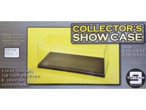 T9 - průhledná krabička na model s podstavcem, 33,5 x 15 x 10,5 cm