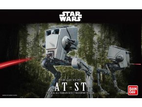 Revell - Star Wars - AT-ST, Plastic ModelKit BANDAI SW 01202, 1/48