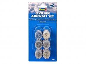 Revell - Sada barev Aqua Color 39072 - civilní letouny