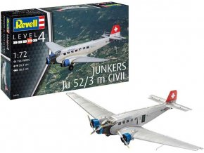 Revell - Junkers Ju52/3m, Plastic ModelKit 04975, 1/72