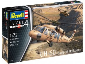 Revell - Sikorsky UH-60 Black Hawk, Plastic ModelKit 04976, 1/72