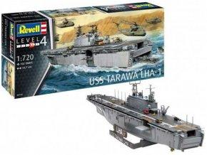 Revell - USS Tarawa (LHA-1), Plastic ModelKit loď 05170, 1/720