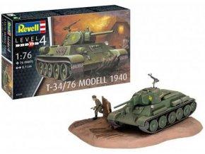 Revell - T-34/76 Model 1940, Plastic ModelKit 03294, 1/76