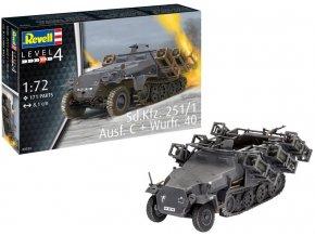 Revell - Sd.Kfz.251/1 Ausf. C Wurfr.40, Plastic ModelKit 03324, 1/72