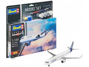 Revell - Airbus A321 Neo, ModelSet 64952, 1/144