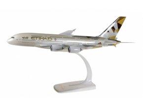 "Herpa - Airbus A380-861, společnost Etihad Airways, Spojené Arabské Emiráty, ""2010s - Facets of Abu Dhabi"" Colors, 1/250"