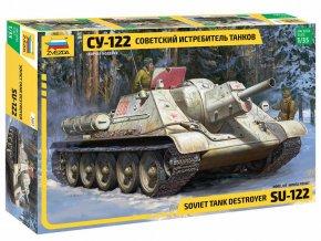 Zvezda - samohybné dělo ISU-122, Model Kit 3691, 1/35