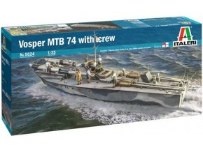 Italeri - Vosper MTB 74 s posádkou, Model Kit 5624, 1/35