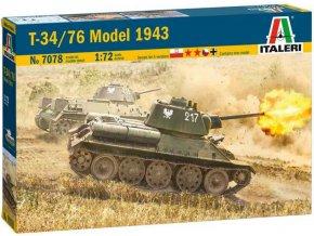 Italeri - T-34/76 Model 1943, Model Kit 7078, 1/72