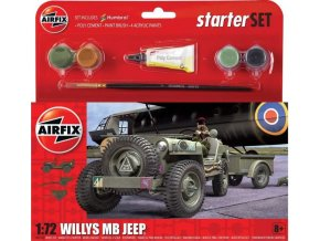 Airfix - Willys Jeep MB, Starter Set A55117, 1/72