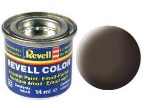 Revell - Barva emailová 14ml - č. 84 matná koženě hnědá (leather brown mat), 32184