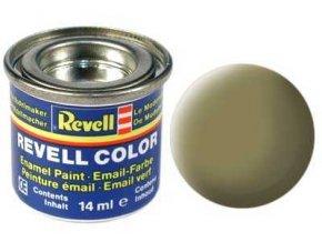 Revell - Barva emailová 14ml - č. 42 matná olivově žlutá (olive yellow mat), 32142