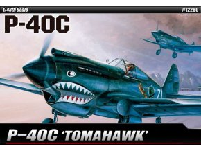 Academy - Curtiss P-40C Kittyhawk, Model Kit 12280, 1/48