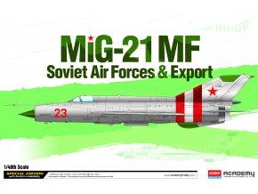 """Academy - Mig-21 MF """"sovětské letectvo+export"""", Model Kit 12311, 1/48"""