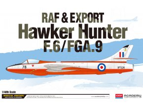 Academy - Hawker Hunter F.6/FGA.9, RAF & Export, Model Kit 12312, 1/48