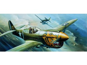 Academy - Curtiss P-40E Tomahawk, Model Kit 12468, 1/72
