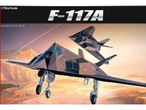 Academy - Lockheed F-117 A Nighthawk, Model Kit 12475, 1/72