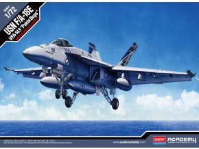 "Academy -  Boeing F/A-18E Super Hornet, US NAVY, VFA-143 ""PUKIN DOGS"", Model Kit 12547, 1/72"