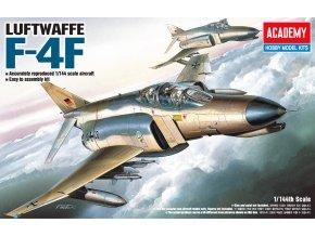 Academy- McDonnell F-4F Phantom II, německé letectvo, Model Kit 12611, 1/144