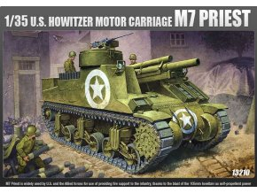 """Academy - 105 mm Howitzer Motor Carriage M7 """"Priest"""", Model Kit 13210, 1/35"""