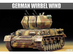 46349 academy flakpanzer iv wirbelwind model kit 13236 1 35