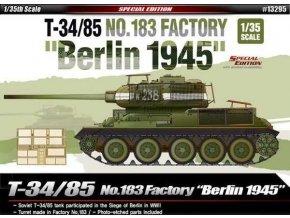 Academy - T-34/85, sovětská armaáda, No.183 Factory, Berlín 1945, Model Kit 13295, 1/35