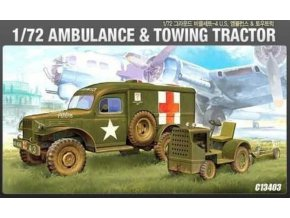 46382 academy dodge ambulance tractor model kit 13403 1 72