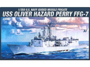 Academy - USS Oliver Hazard Perry (FFG-7), US NAVY, Model Kit 14102, 1/350