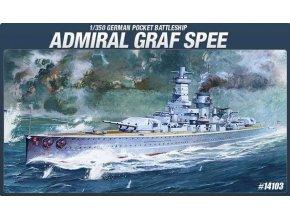Academy - bitevní loď Admiral Graf Spee, Model Kit 14103, 1/350