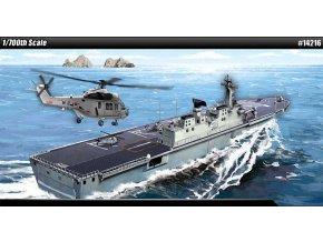 Academy - výsadková vrtulníková  loď Dokdo, Korea, Model Kit 14216, 1/700